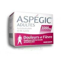 Aspegic Adultes 1000 Mg, Poudre Pour Solution Buvable En Sachet-dose 20 à Clermont-Ferrand