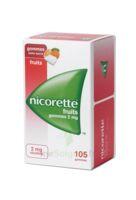 Nicorette 2 Mg Gomme à Mâcher Médicamenteuse Sans Sucre Fruits Plq/105 à Clermont-Ferrand