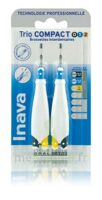 Inava Brossettes Tri Compact étroit  012 Noir 0,6mm/ Bleu 0,8mm/ Jaune 1mm à Clermont-Ferrand