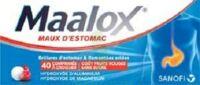 Maalox Maux D'estomac Hydroxyde D'aluminium/hydroxyde De Magnesium 400 Mg/400 Mg Sans Sucre Fruits Rouges, Comprimé à Croquer édulcoré à La Saccharine Sodique, Au Sorbitol Et Au Maltitol à Clermont-Ferrand