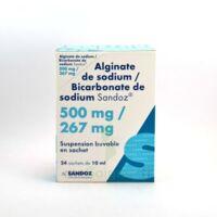 Alginate De Sodium/bicarbonate De Sodium Sandoz 500 Mg/267 Mg, Suspension Buvable En Sachet à Clermont-Ferrand