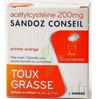 Acetylcysteine Sandoz Conseil 200 Mg Glé Solution Buvable En Sachet-dose 20sach/1g à Clermont-Ferrand