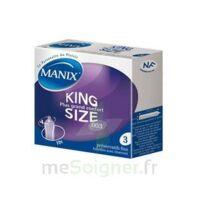 Manix King Size Préservatif Avec Réservoir Lubrifié Confort B/3 à Clermont-Ferrand