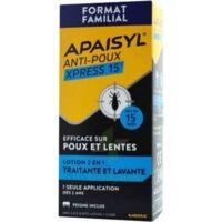 Apaisyl Anti-poux Xpress 15' Lotion Antipoux Et Lente 200ml+peigne à Clermont-Ferrand